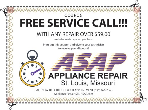 Professional Appliance Repair Service in Wentzville, MO 63348 and Wentzville, MO 63385