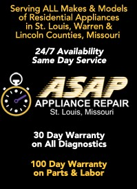 Appliance Repair in St.Louis, St.Charles, Warren & Lincoln Counties
